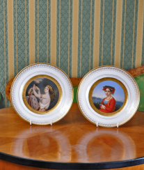 Plates .the middle of the XIX century, porcelain
