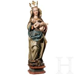 Late-Gothic Madonna in the style from around 1480, Tirol, Austria, around 1900