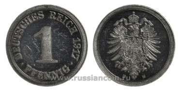 GERMANY 1 PFENNIG 1917 E