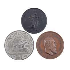 3-piece collection of hist. Medals, Germany 19./20. Century. -