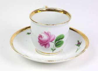 Meissen coffee and cake *Red Rose* by 1860