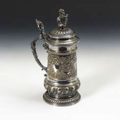 Silver-Plated Historism Pitcher