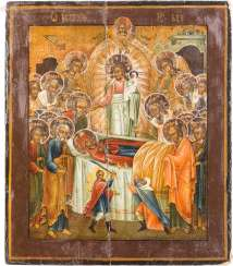 ICON WITH THE DORMITION OF THE MOTHER OF GOD