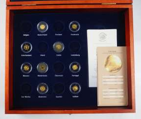 Collection of small GOLD coins - 9 copies.