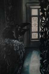 A crow in the dark room / the Raven in a dark room