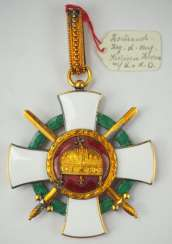 Hungary : order of merit of the Holy crown, commander's cross with swords and war decoration.