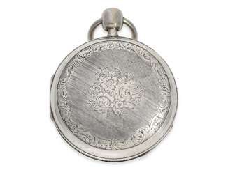Pocket watch: very fine, large pocket watch with percussion and music, very nice quality, Le Clerc, Paris, No. 3030 (1817-1824)