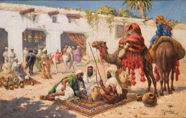 Orientalist second half of the 19th century. Year of the dogs