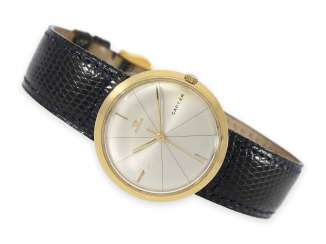 Watch: extremely rare, large vintage Cartier ladies watch/mens watch with hidden lugs sector dial