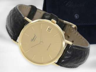 Watch: high-quality, large automatic 18K men's / women's watch from Chopard, Ref. 1039, like new condition, service 2019 with service papers and case