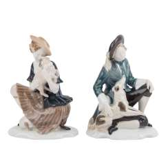 ROSENTHAL 2 shepherd figures, around 1920.