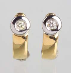Brilliant Earrings - Yellow Gold/White Gold 585