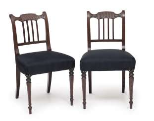Set of six chairs. England, 1. Half of the 19th century. Century