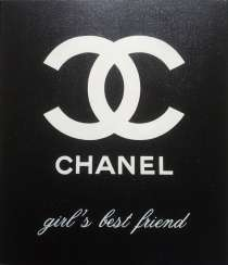 Chanel - the girl's best friend - with sequins! / Chanel is a girl's best friend forever - With Shining Sparkles