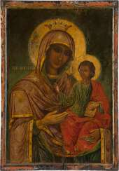 LARGE-FORMAT ICON WITH THE MOTHER OF GOD HODEGETRIA Mount Athos
