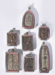 Seven antique Buddhist amulet pendant
