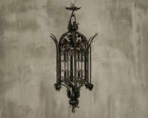 Antique wrought iron chandelier lantern