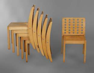 Six Stacking Chairs, Thonet