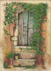 The old courtyard. Handmade. 2020. The Author - Natalia Pisareva