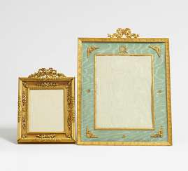 Large and small photo frame with Schleifenzier