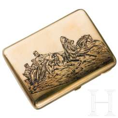 Nielloed silver cigarette case, around 1910