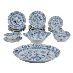 TEICHERT/CITY of Meissen dinner service for 6 persons, 20. Century