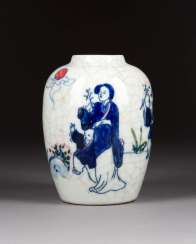 SMALL VASE WITH FIGURAL DECOR