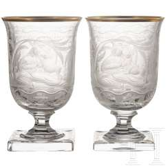 Hermann Göring - two drinking cups from his hunting service
