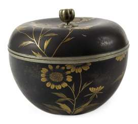 LIDDED BOX, JAPAN, 19TH CENTURY. CENTURY,TIN
