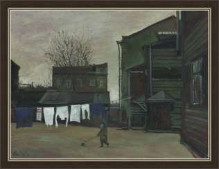"""Boy with a ball (yard in Dorogomilovo)"""