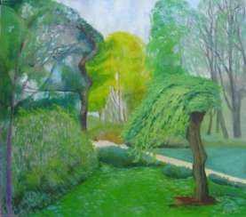 The green willow tree on