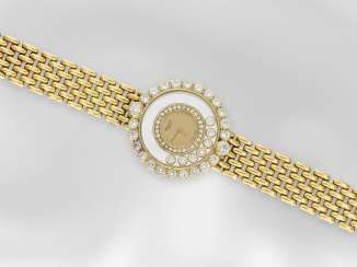 Watch: luxury watch, Chopard Happy Diamonds, Ref. 4180, Switzerland, with certificate, made in 18K yellow gold with the finest diamonds