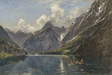 Carl August Heinrich Ferdinand Oesterley - Rowboat on the Königssee