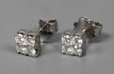 Pair Of Brilliant Stud Earrings