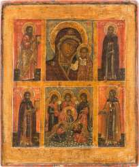 MORE FIELDS-ICON OF THE MOTHER OF GOD OF KAZAN, OF THE SYNAXIS OF THE ARCHANGEL MICHAEL AND SELECTED SAINTS