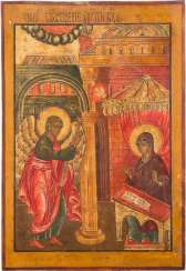 LARGE-FORMAT ICON WITH THE ANNUNCIATION