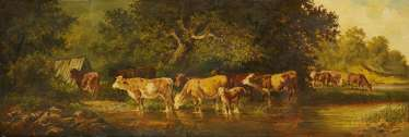 Herd of Cows by the Water