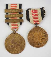 Southwest Africa Medal for combatants, with 3 battle clasps.