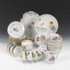 Coffee service with flower painting, MEISSEN