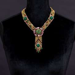 Henkel & Grosse necklace with colored stones