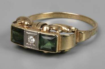 Ring with stone trim