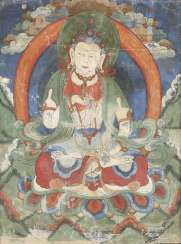 TWO THANGKAS OF THE BUDDHA DEPICTIONS