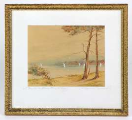 The beach on the Prorer Wiek, Binz - signed