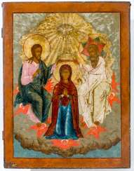 A monumental icon of the coronation of Mary