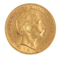 Gold Coin 20 Mark Prussia 1902 A