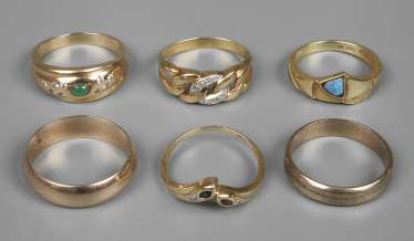 Mixed Lot Of Ladies Rings