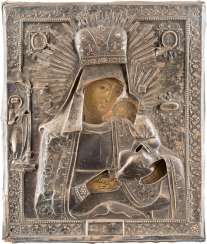 ICON OF THE MOTHER OF GOD 'FROM HARM KEEPING' WITH SILVER OKLAD