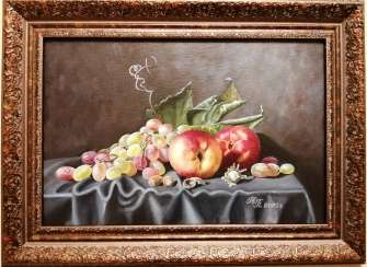 """Peaches and Grapes"""