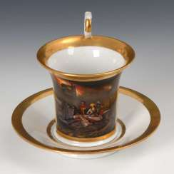 Images Cup with history painting, Gotha