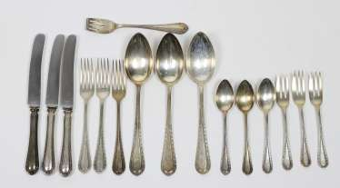 Cutlery for 3 people - silver 800